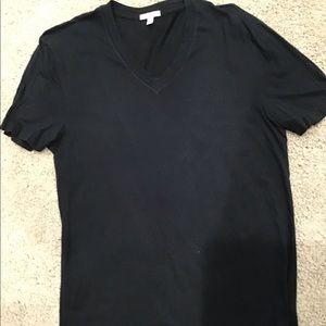 James Perse black cotton t- shirt